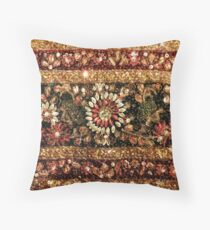 Beaded Indian Saree Photo Throw Pillow