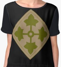 Fourth Infantry Division Insignia Chiffon Top