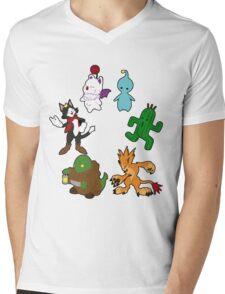 Final Fantasy Mens V-Neck T-Shirt