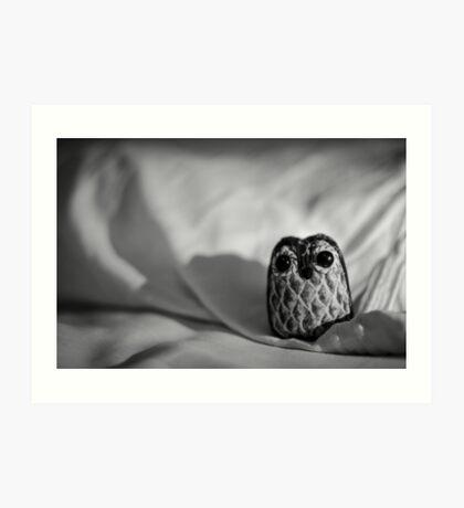 Unintentional Night Owl - The Flightless Fowl Art Print