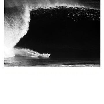 Kneeboard Surfer at Pipeline North Shore Hawaii by depoochai7