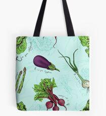 Alphabet Vegetables Tote Bag