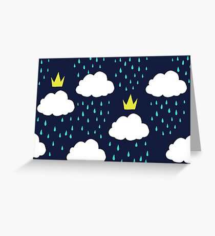 Royal Rain Clouds Greeting Card