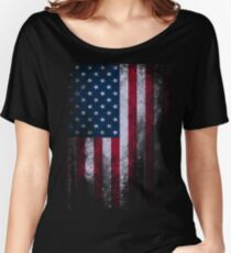 USA America Flag Women's Relaxed Fit T-Shirt