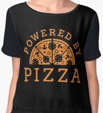 Powered by pizza Chiffon Top