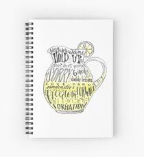 Lemonade Pitcher Spiral Notebook