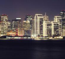 San Francisco Holiday Skyline II Sticker