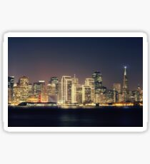 San Francisco Holiday Skyline IV Sticker