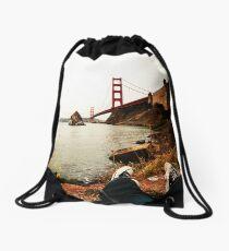 Chucks and the Landmark Drawstring Bag