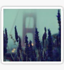 """Purple Haze Daze"" Golden Gate Bridge Sticker"