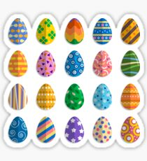 Easter eggs collection Sticker