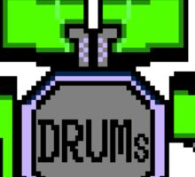 Drum Set Pixels Sticker