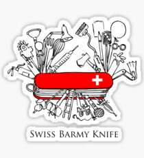 Swiss Barmy Knife Sticker