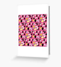 Pink Sea Shore Greeting Card