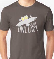 Crazy owl lady (white snowy owl) Unisex T-Shirt