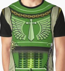 Green Sword Wielder Armour Graphic T-Shirt