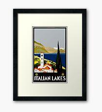 Italian Lakes Vintage Travel Poster Framed Print