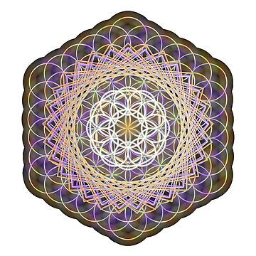 Flower of life rainbow mandala by infectednl