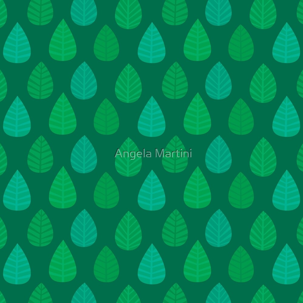 Green Leaves by Angela Martini