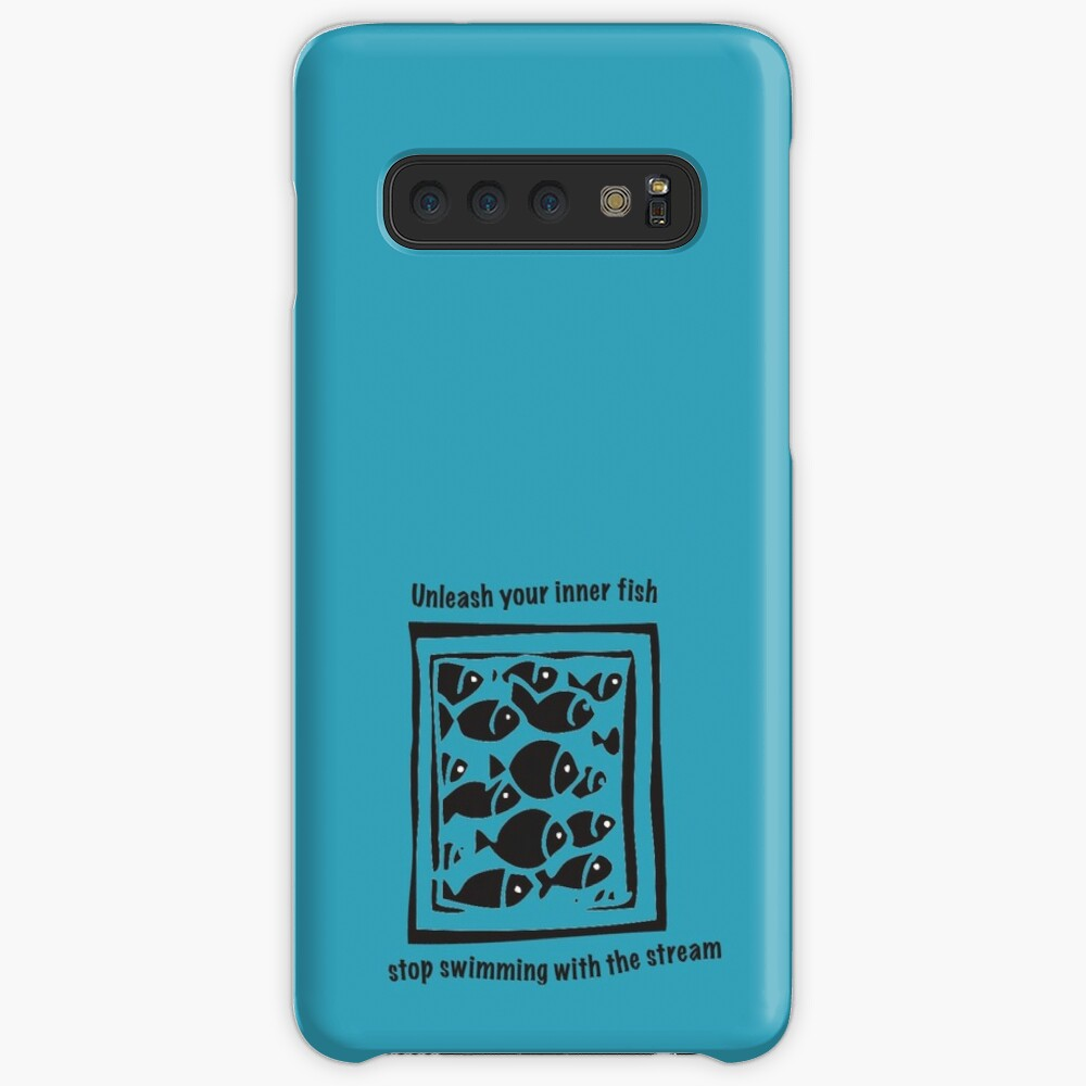 Swimming against the stream Tee Case & Skin for Samsung Galaxy