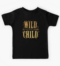 WILD CHILD in gold foil (image) Kids Tee