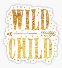 WILD CHILD in gold foil (image) Sticker