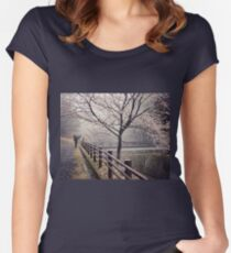 Strolling in the Rain Women's Fitted Scoop T-Shirt