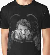 Weeping Angel Castiel Graphic T-Shirt