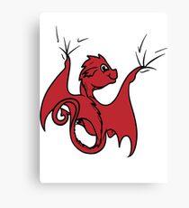Red Dragon Rider Canvas Print