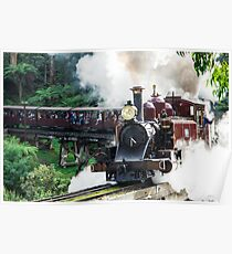 Puffing Billy steam train Poster