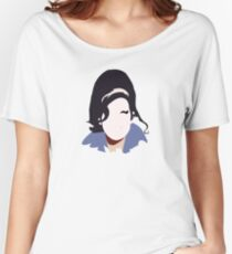 Amy Winehouse Abstract Design Women's Relaxed Fit T-Shirt