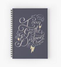 Go The Distance Spiral Notebook