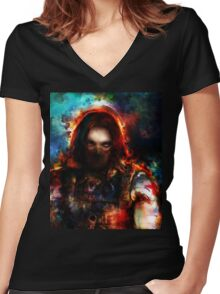 winter one Women's Fitted V-Neck T-Shirt
