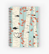 Cuaderno de espiral En los árboles de abedul