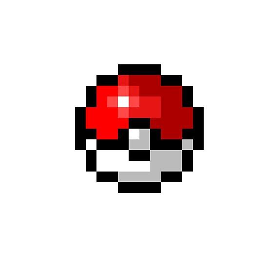 Pokeball Pixel Art Fotodrucke Von 4meme Redbubble