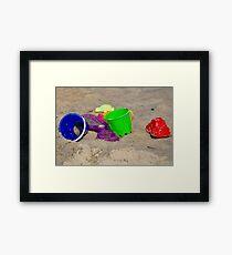 Beach Toys Framed Print