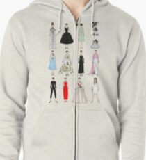 Outfits of Audrey Fashion Zipped Hoodie