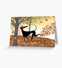 Autumn Hound Greeting Card
