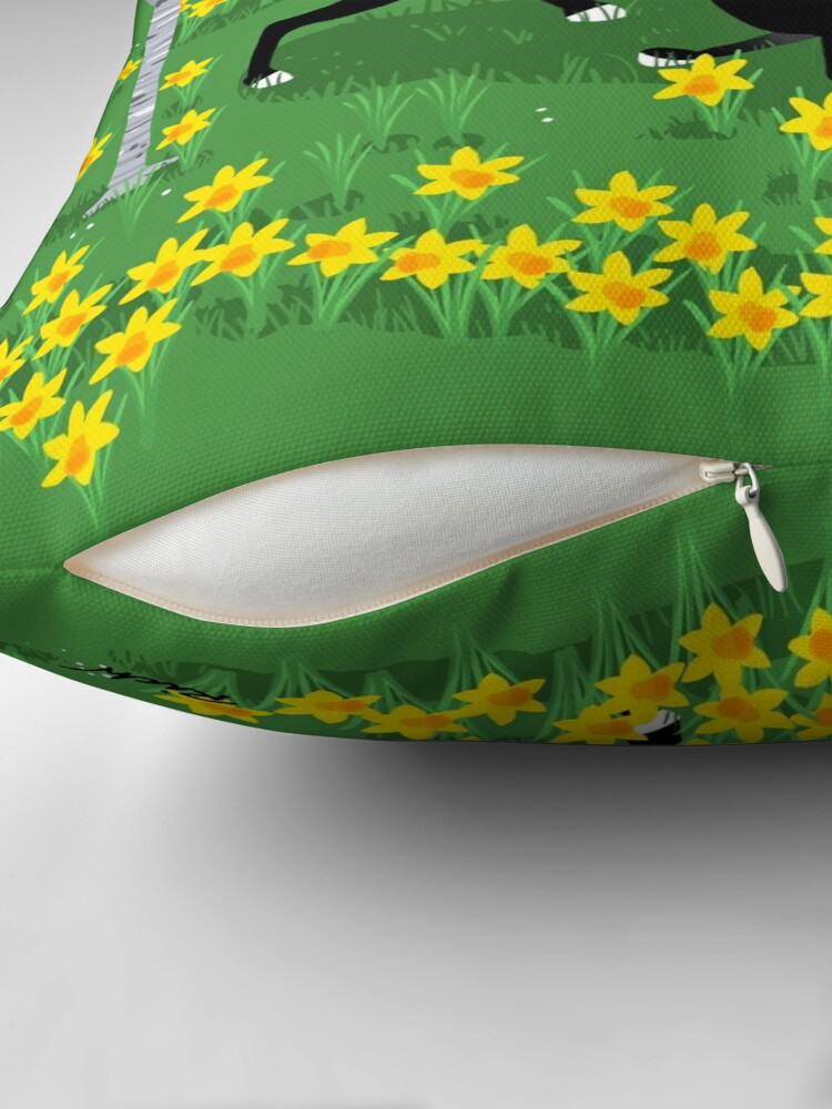 Alternate view of Daffodil Hound Throw Pillow
