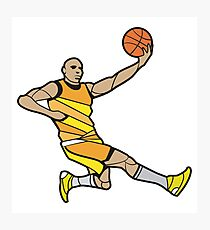 Basketball Player Illustration Photographic Print