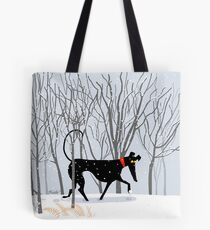 Winter Hound  Tote Bag