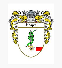 Hayes Coat of Arms/Family Crest Photographic Print