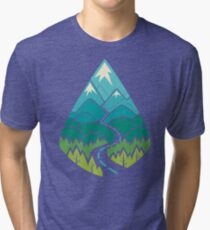 The Road Goes Ever On: Summer Tri-blend T-Shirt