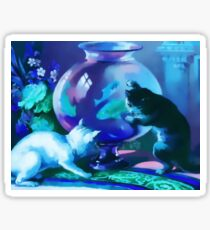 Kittens with Goldfishes Sticker