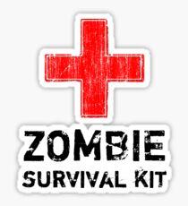 Zombie Survival Kit Sticker