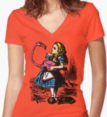 Flamingo Croquet Women's Fitted V-Neck T-Shirt