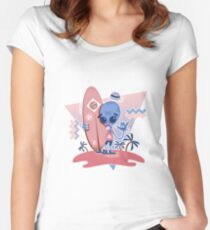 Alien Surf - Serenity Women's Fitted Scoop T-Shirt