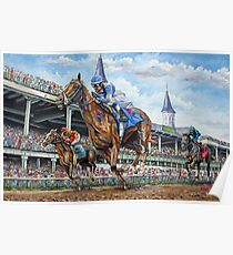 Kentucky Derby - Down the Stretch Poster