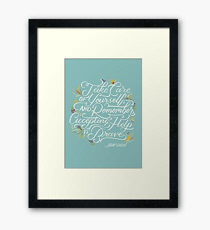 Accepting Help is Brave Framed Print