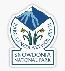 Snowdonia National Park Sign, Wales, UK Sticker